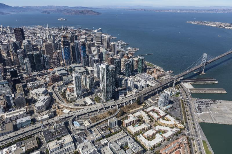 Emarcadero area of San Francisco
