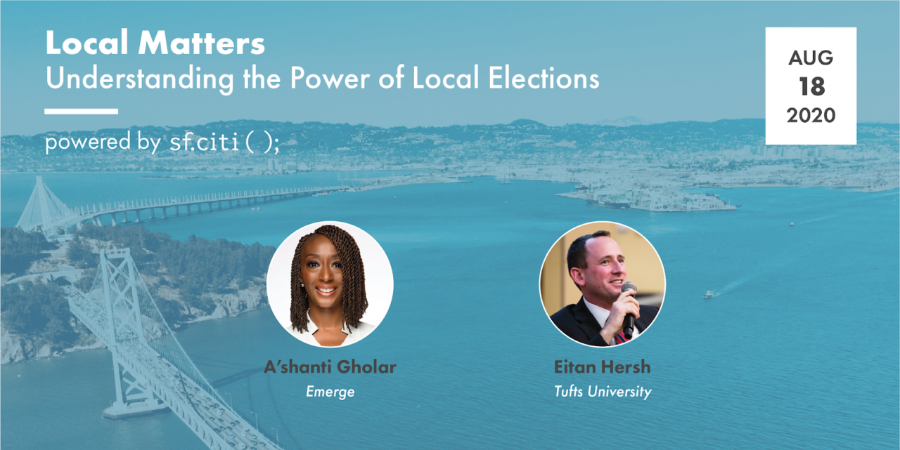 A'shanti Gholar and Eitan Hersh at Local Matters